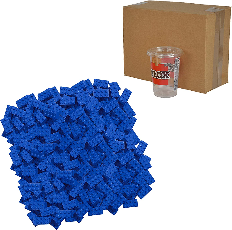 Simba - 104118930 - Ensemble de Blocs de Construction - Blox 8 - 500 Pièces - Blanc Bleu