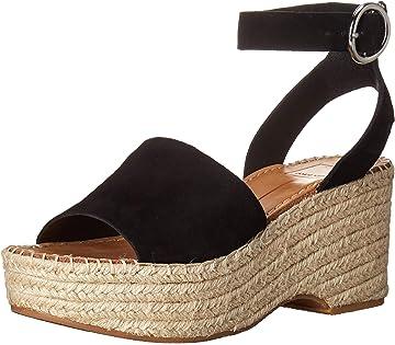 a932bdc3f18 Amazon.com  Dolce Vita Women s Lesly Wedge Sandal onyx suede 6 M US  Shoes