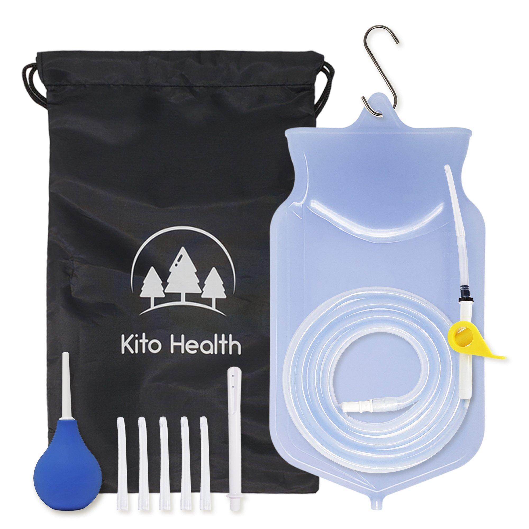 Enema Kit Silicone Bag | Home Coffee & Water Colon Cleansing Irrigation | Women Men Reusable Enema | Enema Bulb Douche