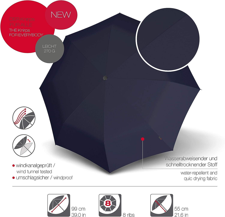 Pacific Windproof Knirps Taschenschirm A.050 Medium Manual Stabil Kompakt und sturmfest