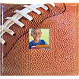 MBI 13.2x12.5 Inch Sport and Hobby Postbound Album with 12x12 Inch Pages, Football Theme (865404)