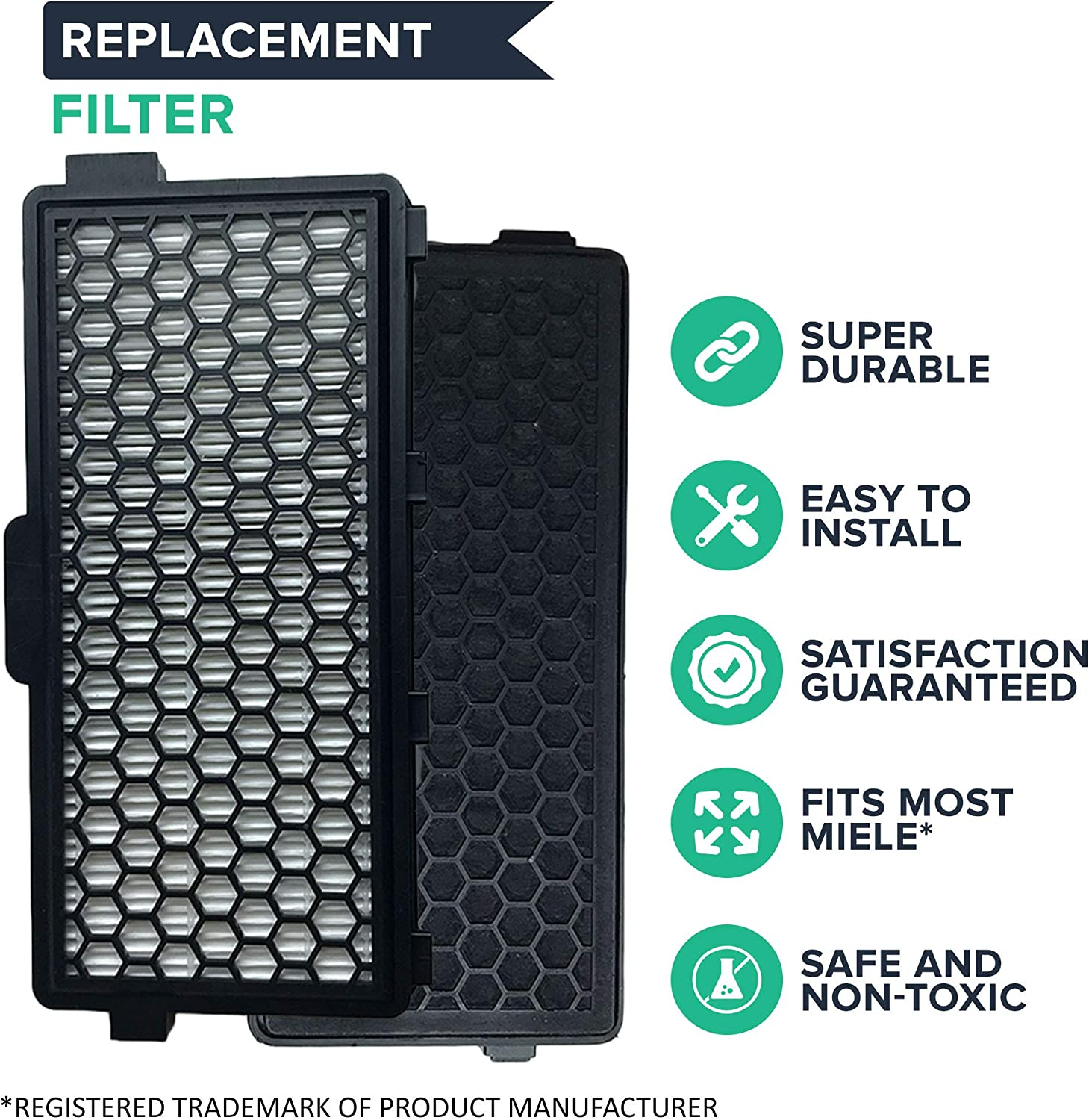1 Miele S4000 /& S5000 HEPA Filter Designed To Fit Miele Galaxy S4000 /& S5000 Series Vacuums; Compare To Miele Part # SF AH50; Designed /& Engineered By Crucial Vacuum