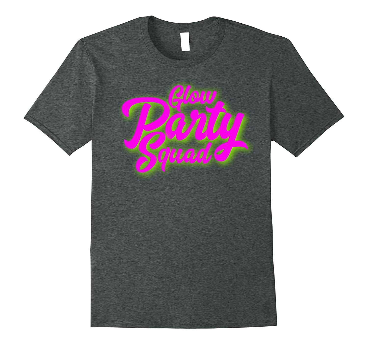 Glow Party Squad T-Shirt Neon Theme 80's Party Tee-FL