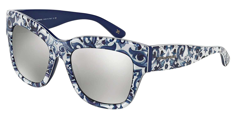 3af0eab424ea Amazon.com  DOLCE   GABBANA Sunglasses DG 4231 29936G Maioliche  Partenopee Blue 54MM  Clothing