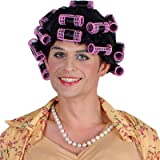 Ladies Funny Housewife with Rollers Wig Outfit Accessory for Fancy Dress Womens