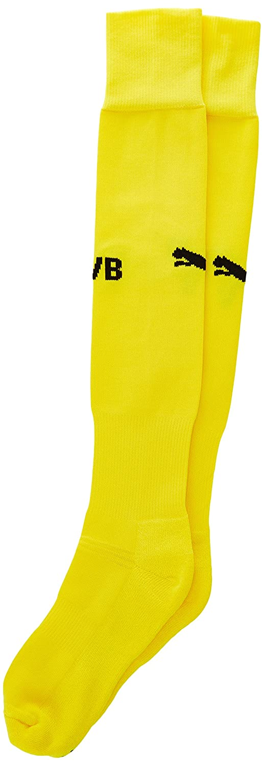 2015-2016 Borussia Dortmund Home Puma Socks (Yellow) B00XRK6M02Yellow Large 9-11 UK Foot