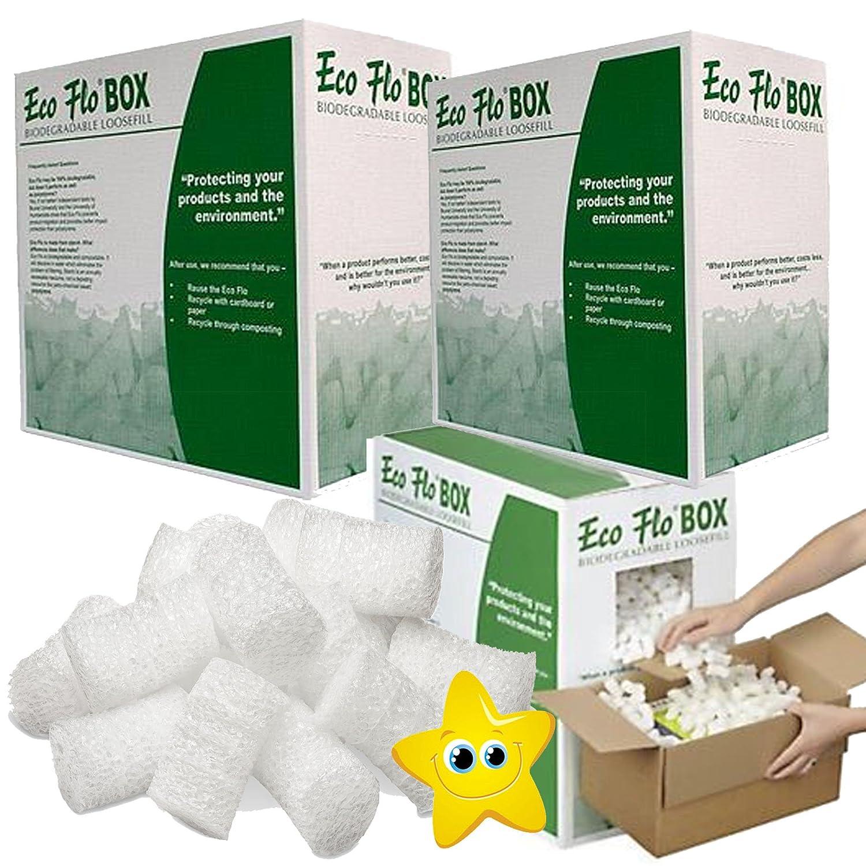 Eco Flo Biodegradable Loose Fill/Void Filler Dispenser Box 120 Litres Per Box (1 Box) STAR SUPPLIES