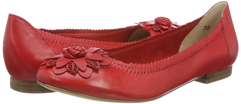 CAPRICE Damen 22103 Geschlossene Nappa Ballerinas Rot (ROT Nappa Geschlossene 501) 4ab42f