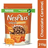NesPlus Nestlé Breakfast Cereal, Multigrain Granola – Chocolate Caramel, 215g Pouch