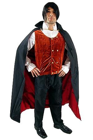Halloween Costume 38.Party Fancy Dress Halloween Men Costume With Cape Nosferatu Count