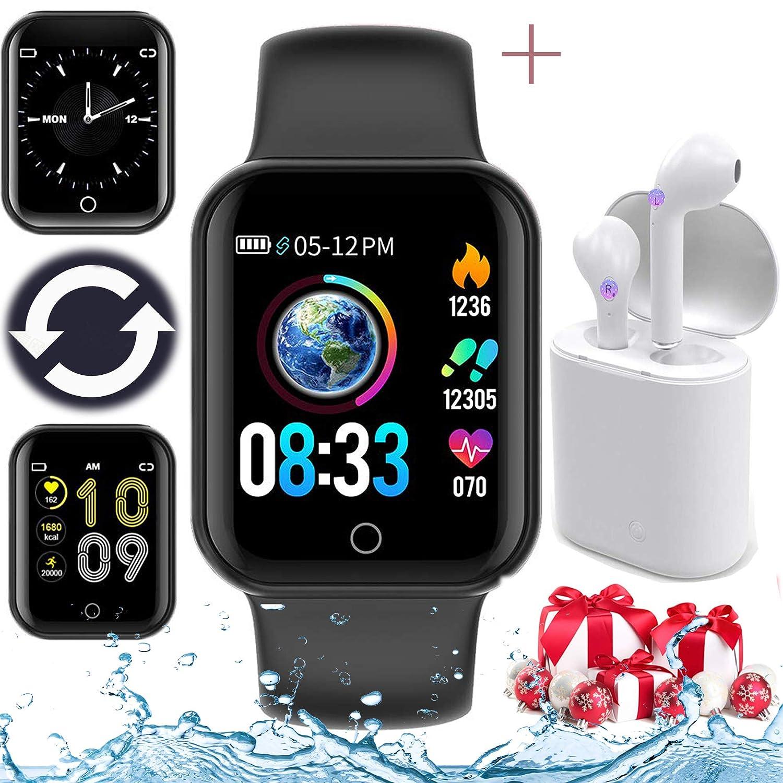 Smartwatch, Reloj Inteligente innovador Un par de auriculares ...