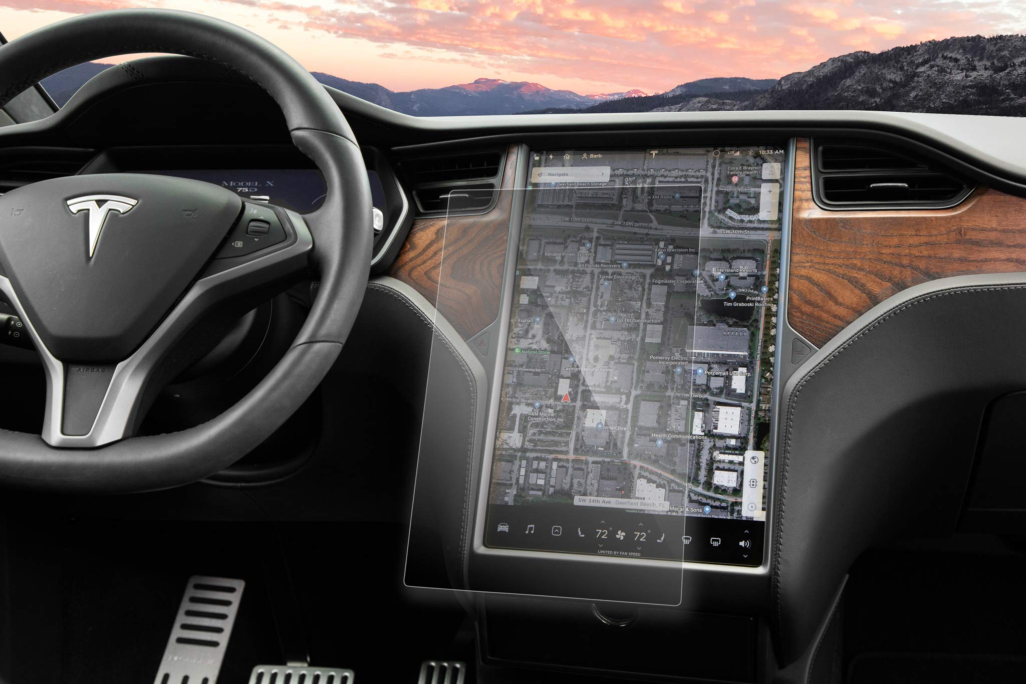 EVANNEX Tempered Glass Screen Protectors for Tesla Owners - MX by EVANNEX