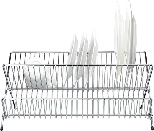Kitchen Craft Grande Plegable 2 niveles Plato Escurridor Rack 1 47.5 X 26.5 X 22 Cm