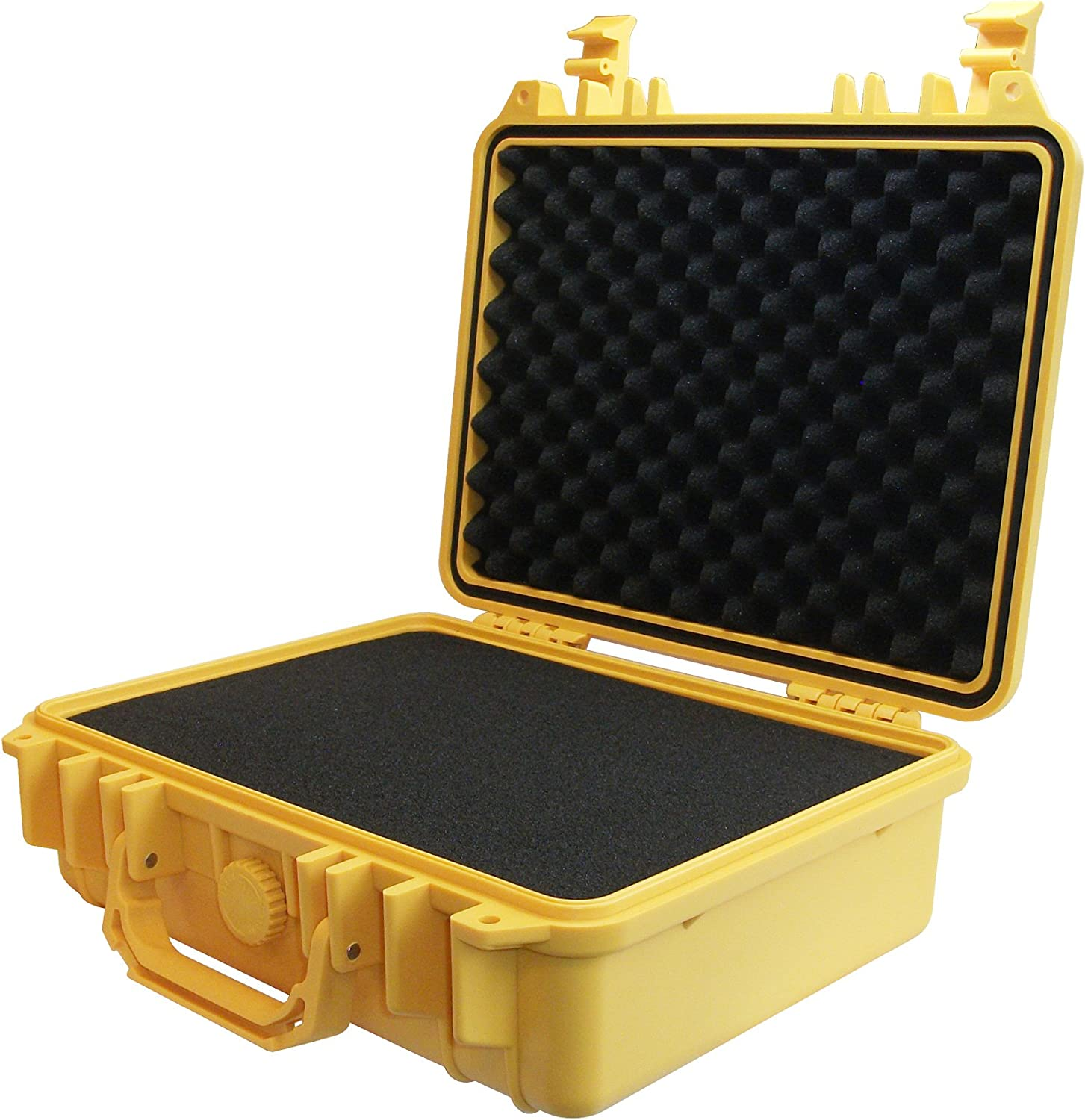 Ibex Cases Yellow Watertight GoPro Hero and Accessories Hard Rugged Case with Customizable Foam IC-1300YL