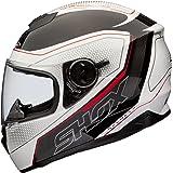Shox Assault Tracer Casque moto, taille L, blanc/noir/rouge