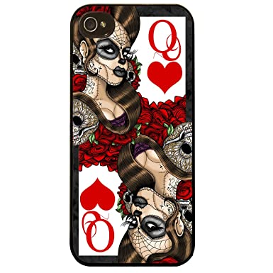 Cover For Iphone 5 5s Queen Of Hearts Day Of The Dead Sugar Skull