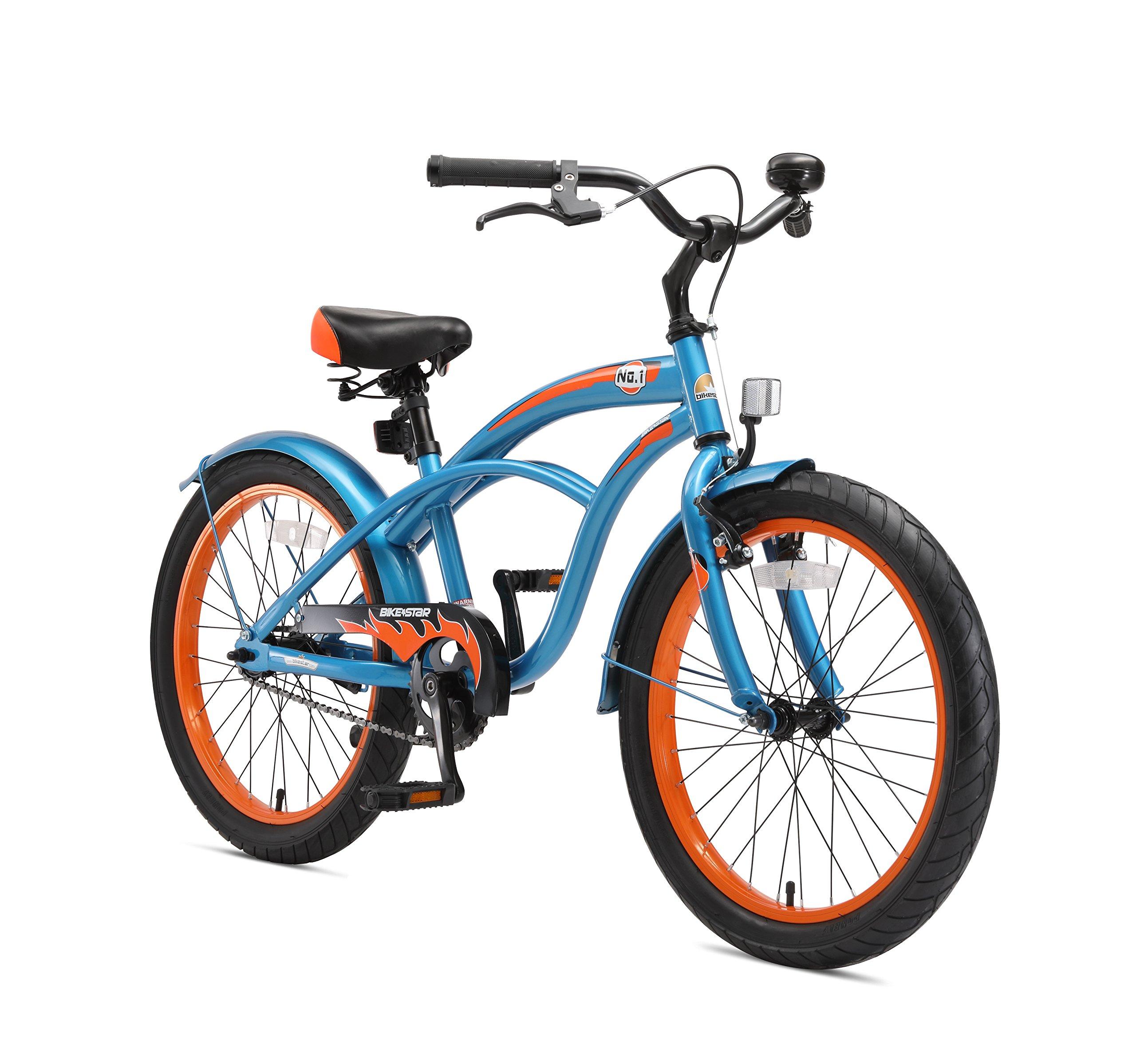 BIKESTAR Bicicleta para niños ☆ 20 Pulgadas ☆ Color Azul ☆ Frenos de Tiro Lateral y