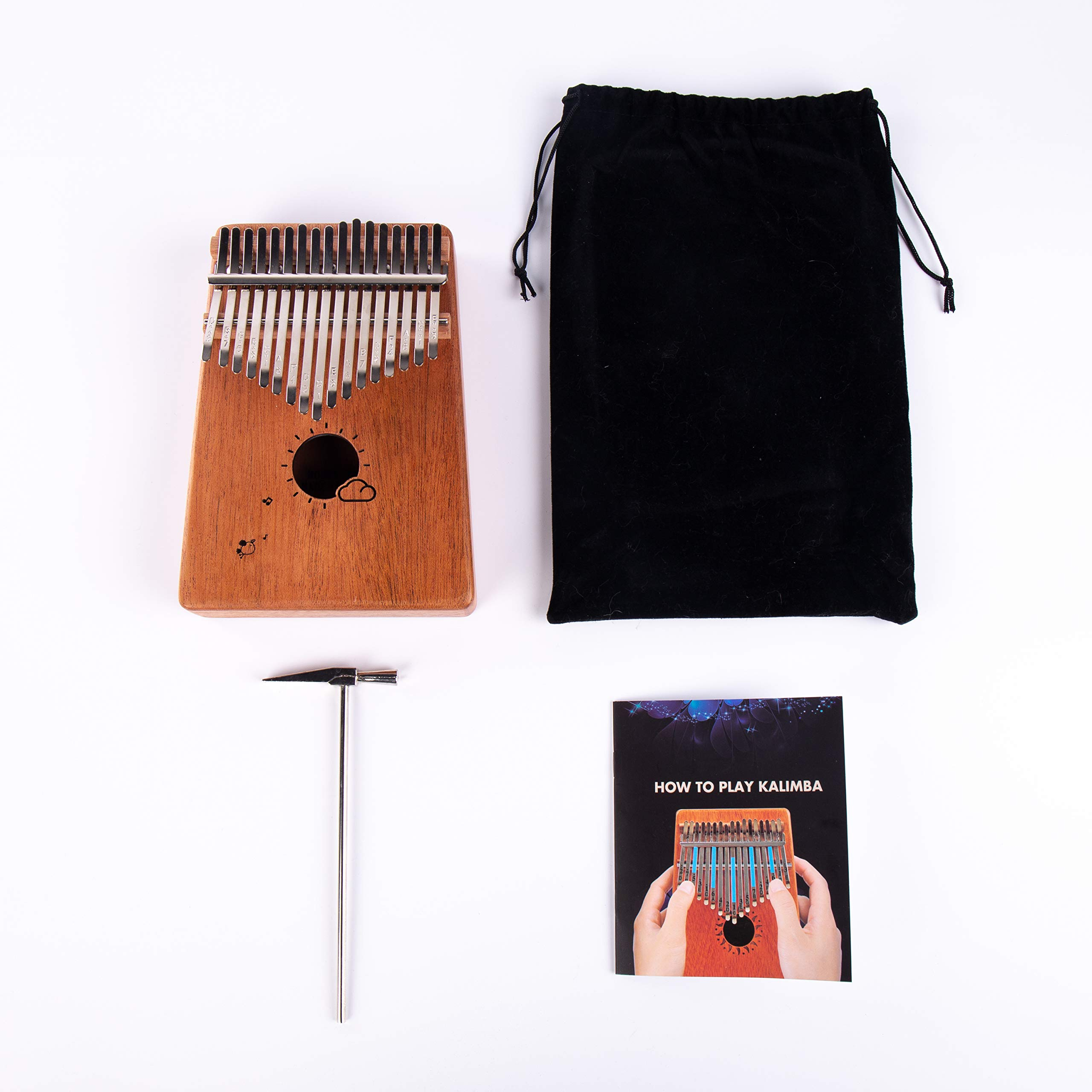 Kalimba 17 Keys Thumb Finger Piano - Mbira - Solid Mahogany and Portable with Carrying Bag and Instructions by GSM Brands (Image #7)