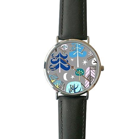 ERT8OII Fairytale Reloj de Pulsera con Números Romanos Personalizados de Cuarzo Ordinario, Reloj de Pulsera