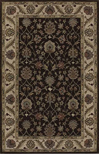 Dalyn Rugs Jewel Tufted Rug, 8 x 10 , CHOCOLATE IVORY