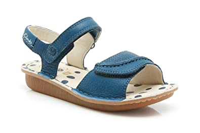 e461e5334d695 Clarks Girls Out-Of-School Home Girl Inf Leather Sandals In Blue ...