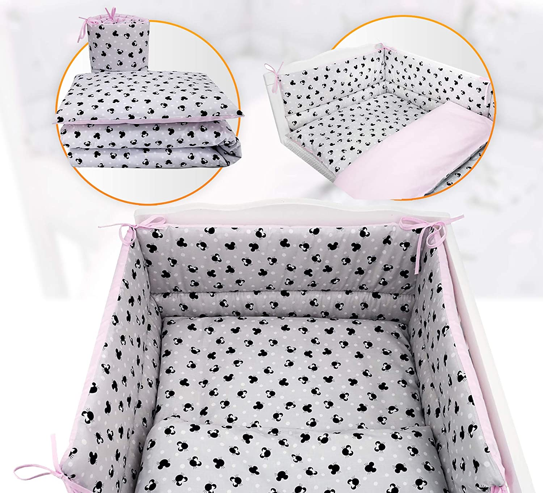 COT 120X60 3 PC Baby Bedding Set- Unique Designs-Bumper-Duvet Cover-Pillowcase , Blue Koala//Blue Mattress Size
