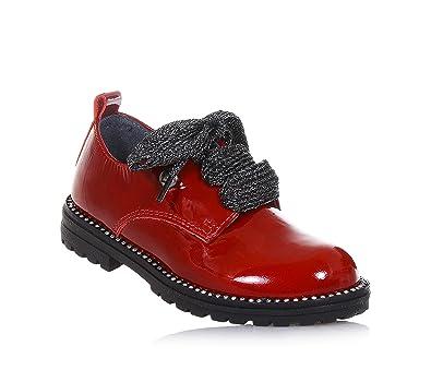LIU JO - Chaussure à l'anglaise à lacets bleue en vernis, made in Italy, petit logo, Fille, Filles, Femme, Femmes-33