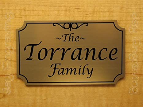 Amazon Com Custom Engraved 4x6 Family Name Personalized Sign Plaque