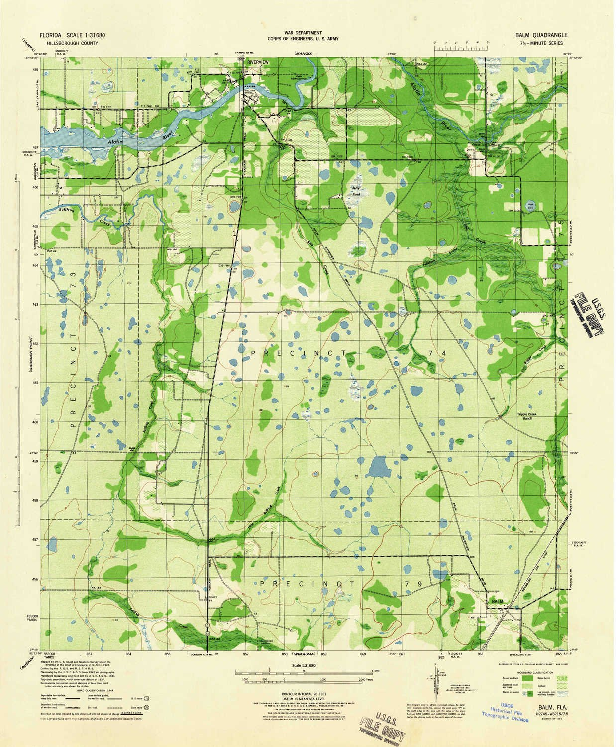 Amazon Com Yellowmaps Balm Fl Topo Map 1 31680 Scale 7 5 X 7 5