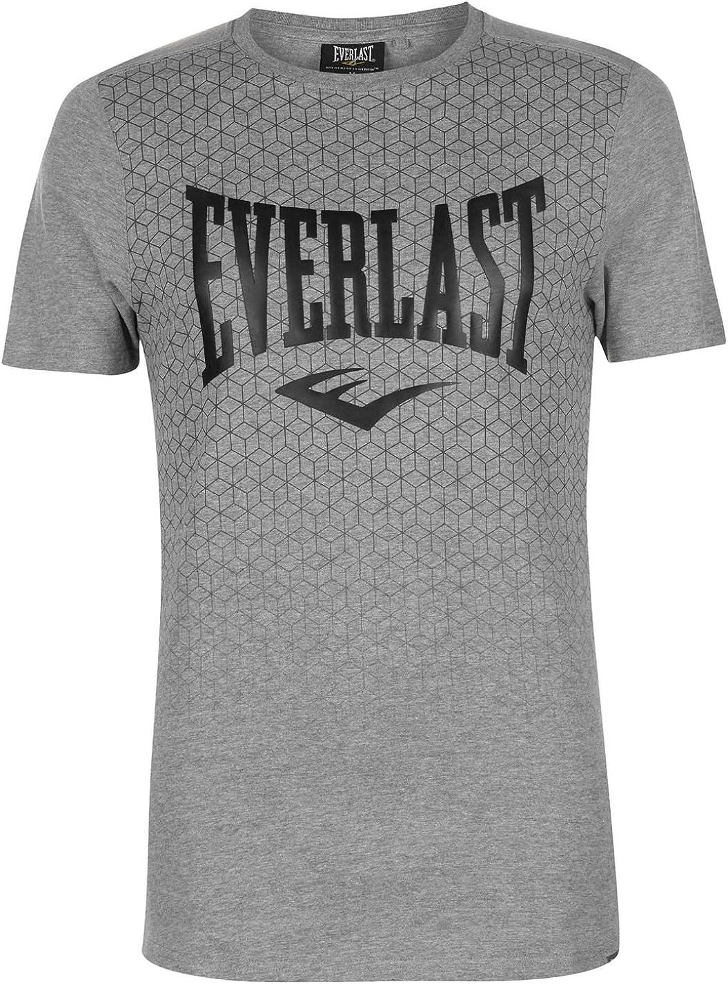 Everlast hombre impresión geométrica camiseta Grigio M Geo XL ...