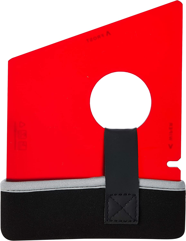 Swedish Ice Scraper ICE14 6mm Dark Red with Neoprene Holder