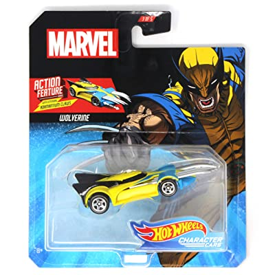 HW Character Cars Marvel Wolverine with Extending Adamantium Claws Action Feature: Toys & Games