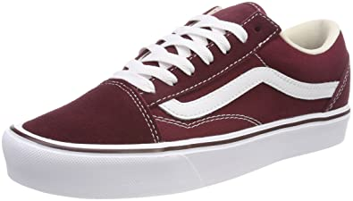 d30febc1753 Amazon.com | Vans Unisex Adults' Old Skool Lite Trainers, Red ...