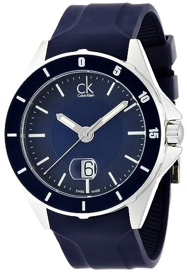 Calvin Klein K2W21TZX - Reloj analógico de cuarzo para hombre con correa de caucho, color