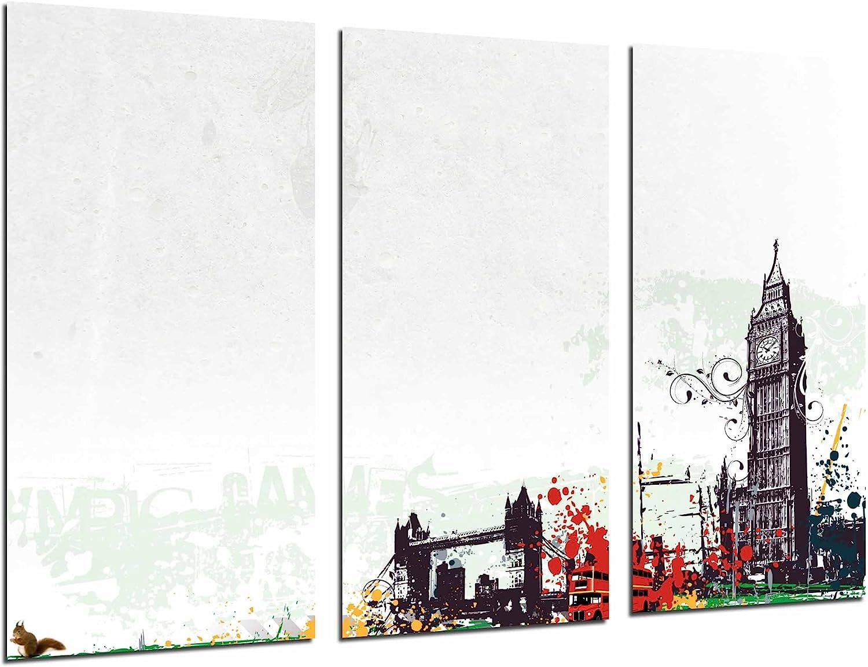 Cuadro Fotográfico Cuidad Londres, London, Big Ben, Fondo Blanco Tamaño total: 97 x 62 cm XXL