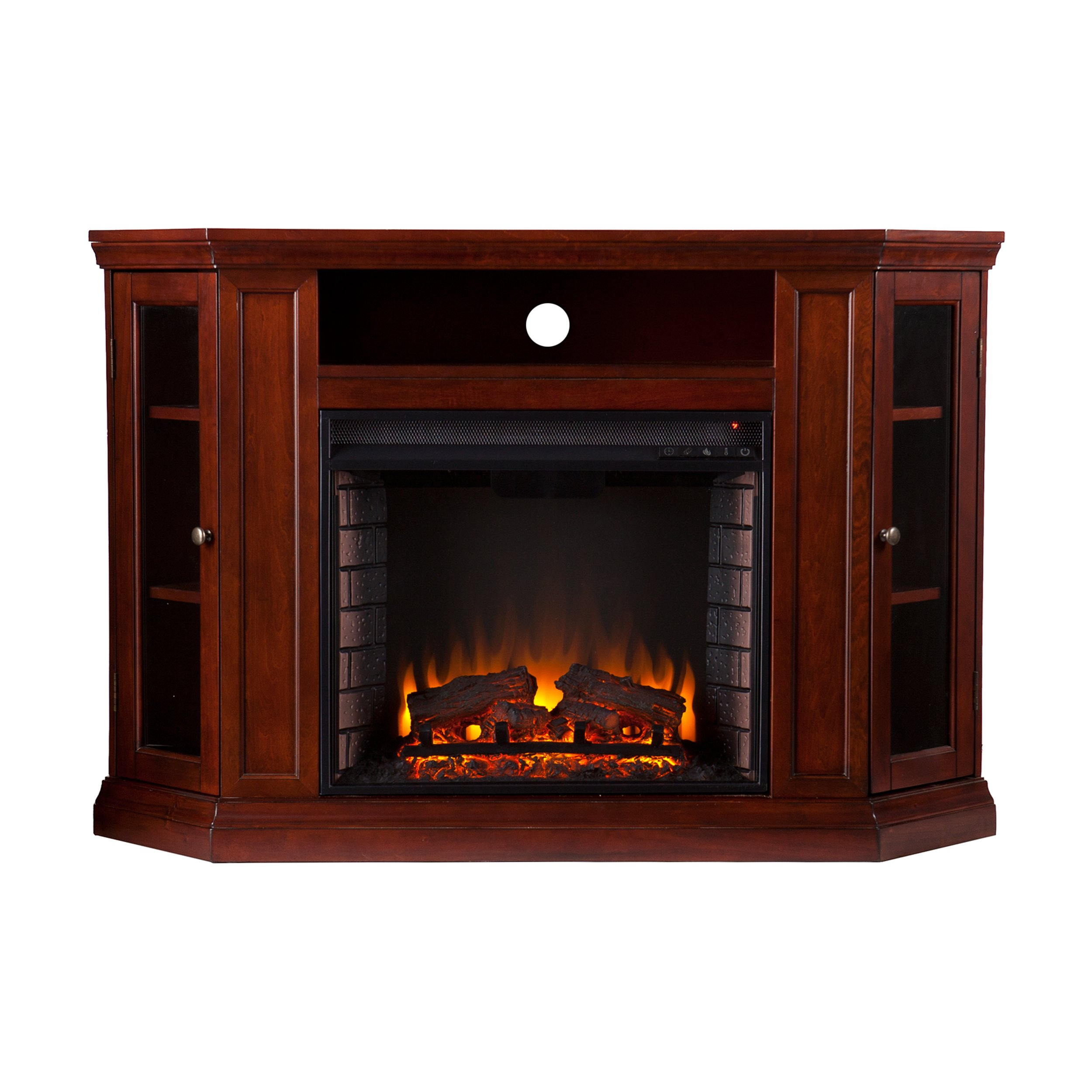 Southern Enterprises Claremont Convertible Media Electric Fireplace 48'' Wide, Cherry Finish by SEI