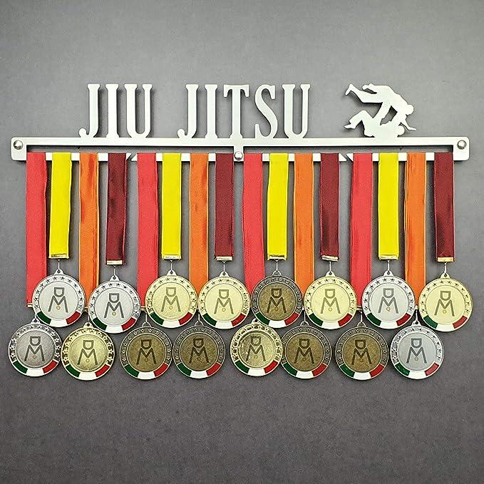 JIU Jitsu - Colgador de medallas Deportivas - Medallero de Pared Artes Marciales, BJJ - Sport Medal Hanger - Display Rack - Acier Inoxydable - 100% Made in Italy: Amazon.es: Hogar