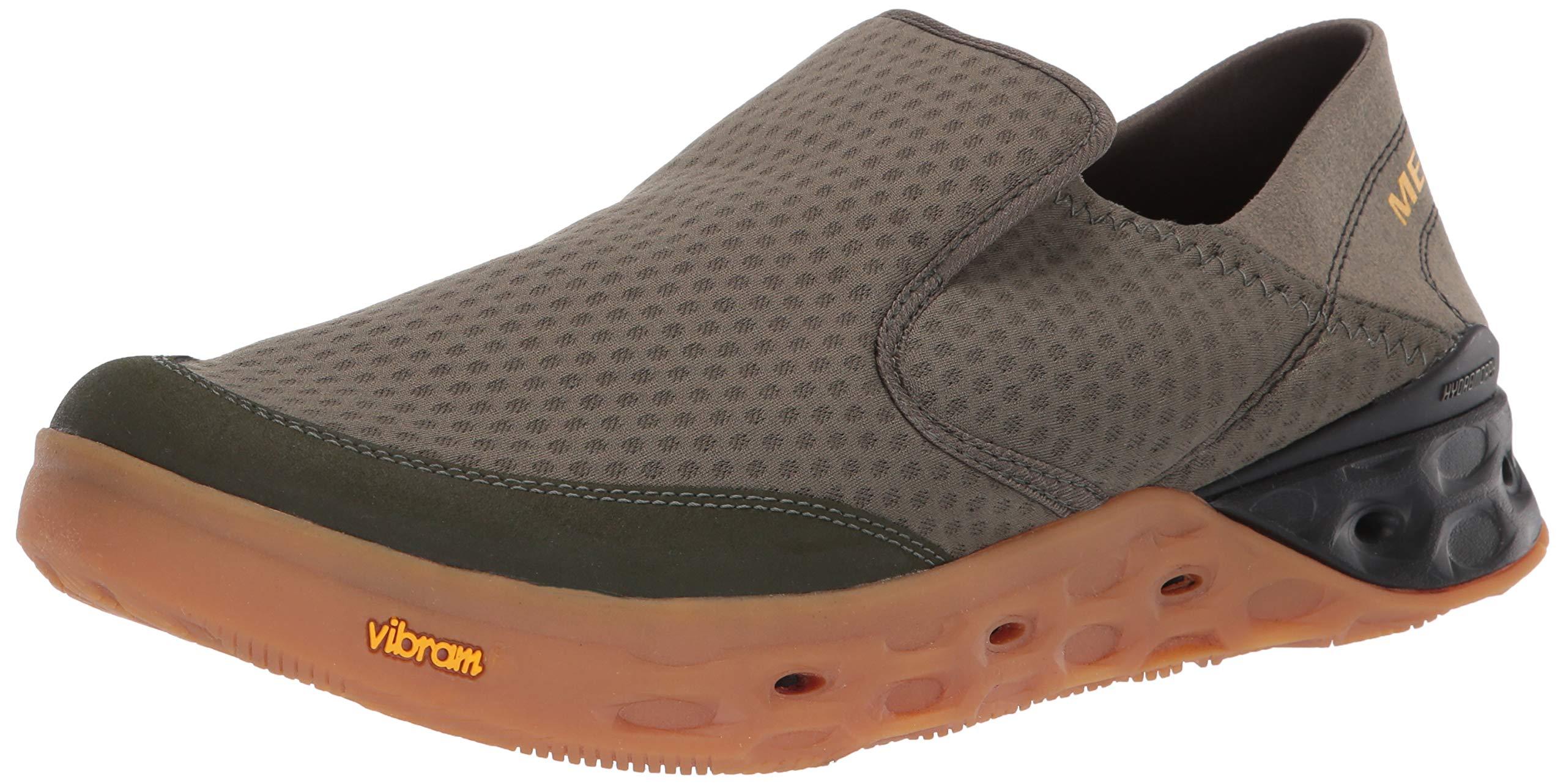 Merrell Men's TIDERISER MOC Water Shoe, Olive, 12.0 M US