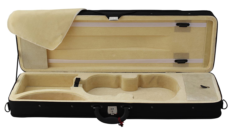 YMC Quality 4/4 Full Size Polyfoam Violin Case - Beige Interior VL-Square-4/4-Case