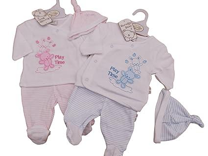 BNWT ropa de bebé para bebé (talla bebés prematuros Reborn niño o niña 3 piezas Teddy rosa rosa Talla:tiny baby