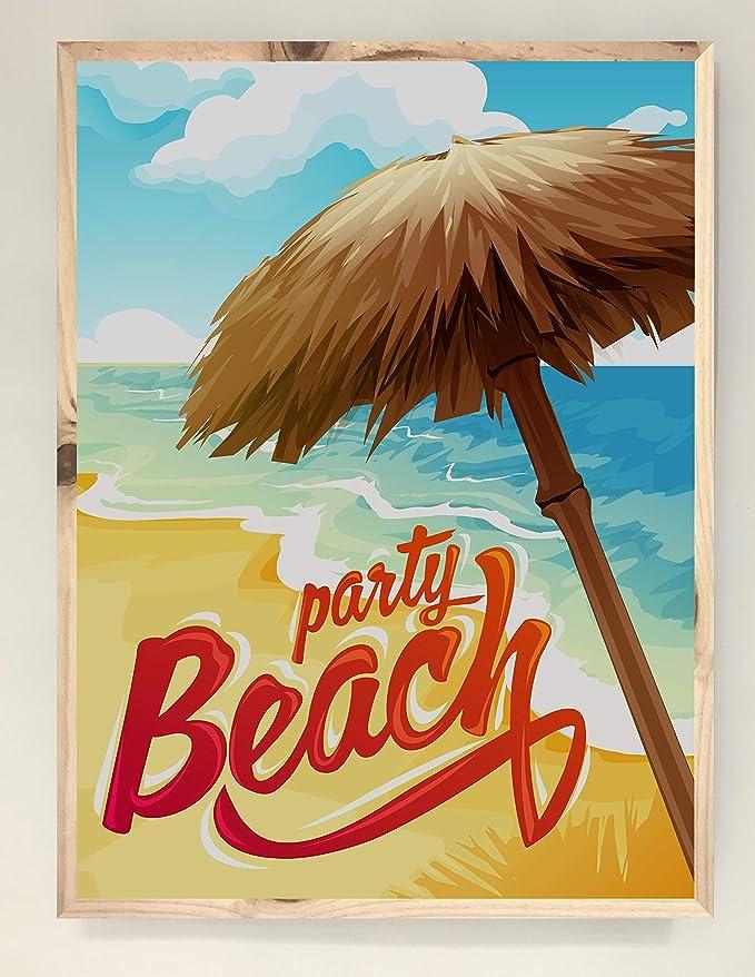 CCRETROILUMINADOS Party Beach Cartel Vintage Iluminado con ...