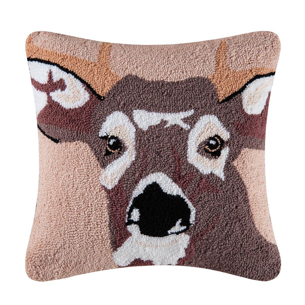 C&F Home in the Woods Deer Pillow, Brown