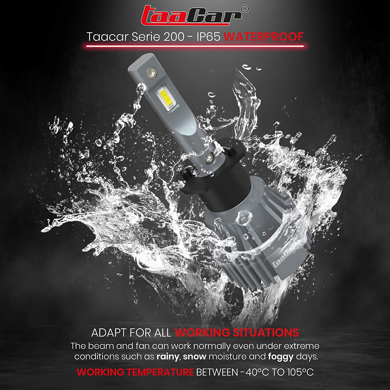 CANbus Garantie 3 Ans. TAACAR Ampoules H1 LED 12000LM 6500K