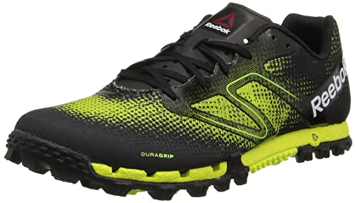Reebok Mens All Terrain Super Running Shoe,Black/Neon Yellow/White/China