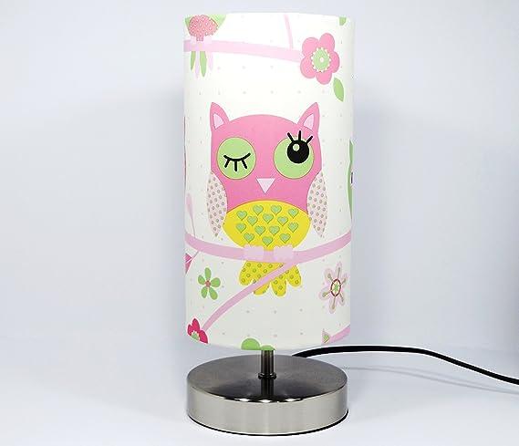Owl lamp light lampshade pink owl bedside bedroom table desk lamp owl lamp light lampshade pink owl bedside bedroom table desk lamp lamps night light girls woodland aloadofball Choice Image