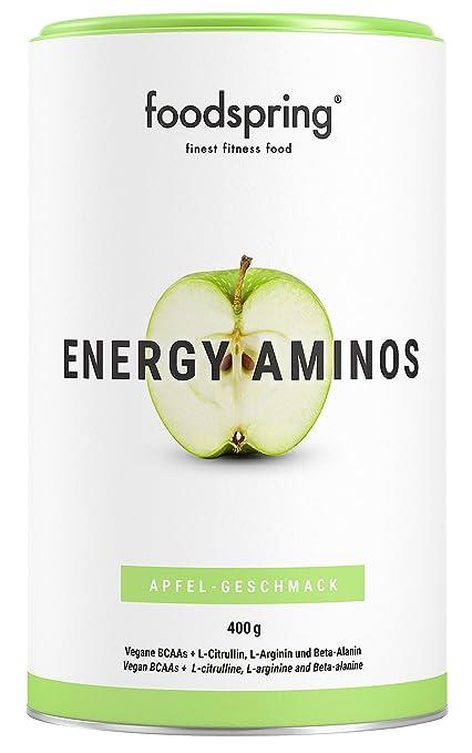 foodspring - Energy Aminos - Sabor Manzana - El chute de energía 100% natural -