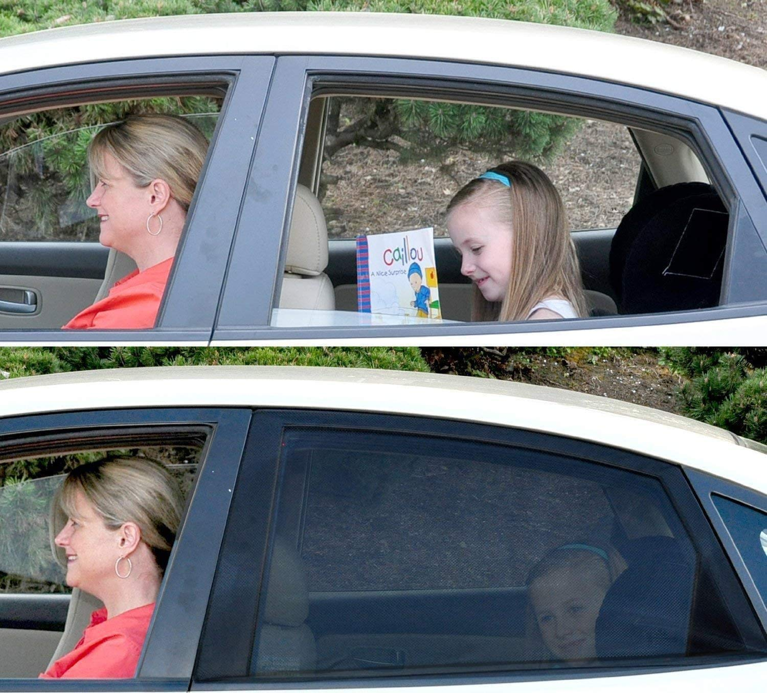 Universal Car Window Shade Breathable Sun Shades Mesh Shield Protects the Old//Toddler//Kids//Pets from Sun Burn Keeps Cooler Screen for Baby Sleeping