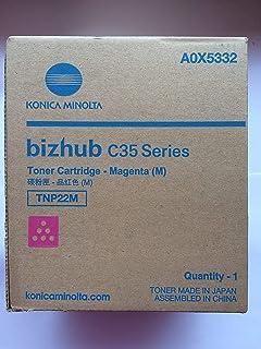Konica-Minolta A0X5432 TNP-22C OEM Toner Cyan Yields 6,000 Pages