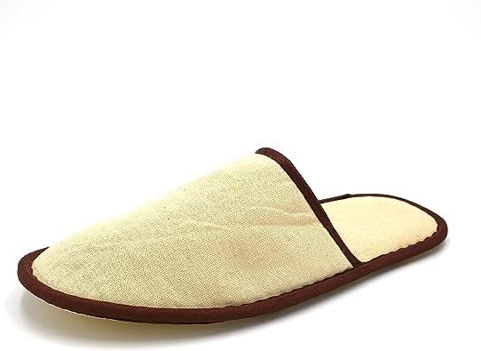 GUSHI 100 Pares de Zapatillas no Desechables Hotel SPA, Clientes, hoteles y Viajes, Zapatillas Unisex con Ribete marrón TAMAÑO 28.5cm: Amazon.es: Zapatos y complementos