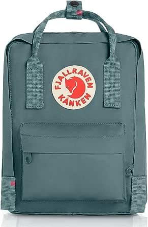 Fjallraven Kanken Mini Backpack, Frost Green-chess Pattern